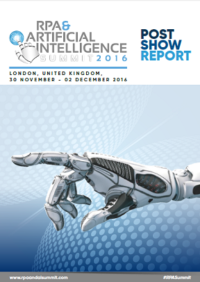 Post-Show Report for RPA and Artificial Intelligence London, November 2016