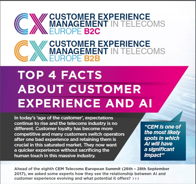 CEM Telecoms: Top 4 facts about customer experience and AI
