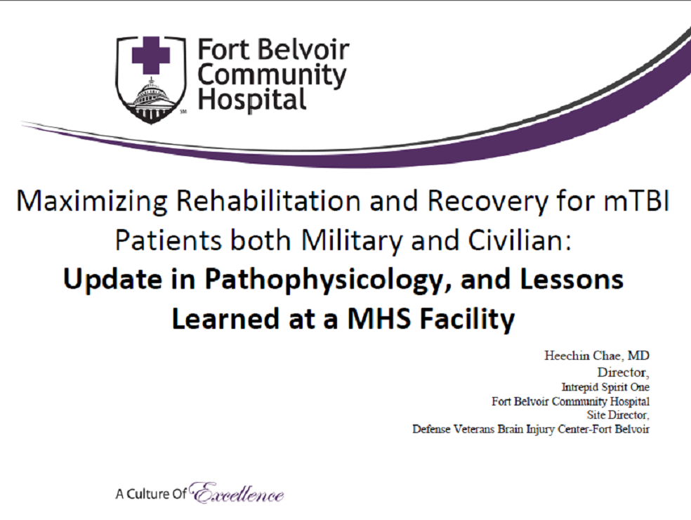 Maximizing Rehabilitation and Recovery for TBI Patients both Military and Civilian