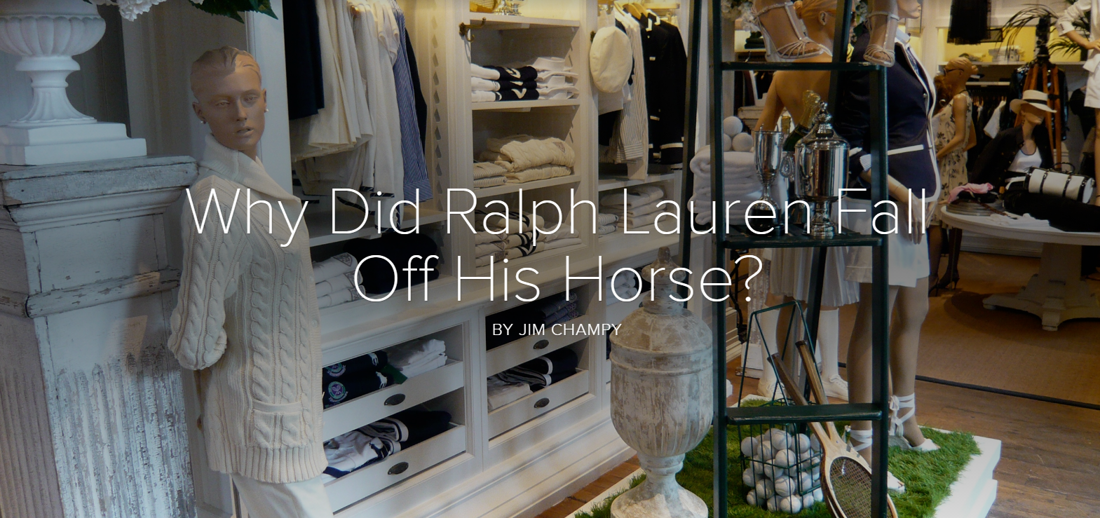 Why Did Ralph Lauren Fall Off His Horse?