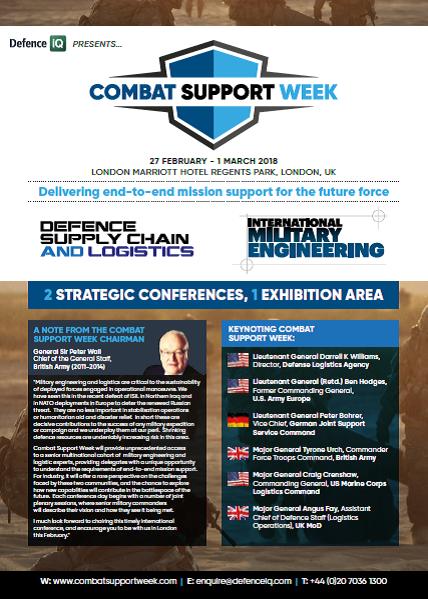 Download the Combat Support Week 2018 Agenda