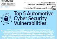 Top 5 Automotive Cyber Security Vulnerabilities