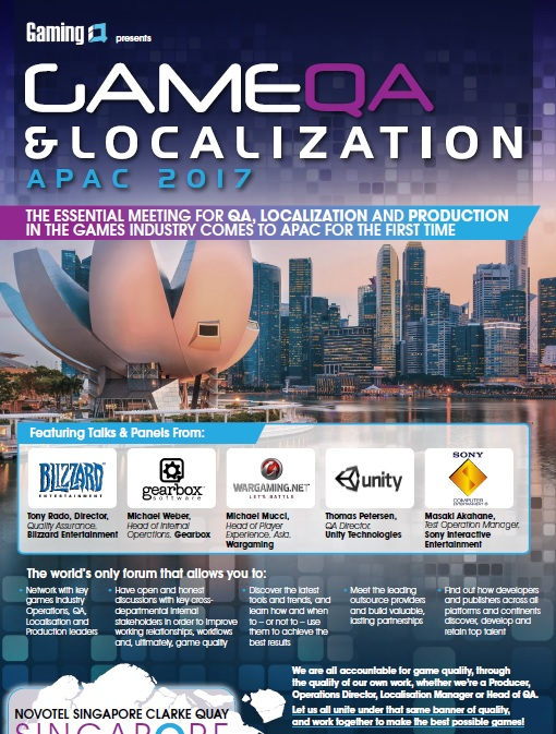 Game QA and Localization Forum 2017 APAC