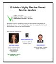 10 habits of highly effective shared services leaders