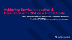 Achieving Service Innovation & Excellence with RPA on a Global Scale