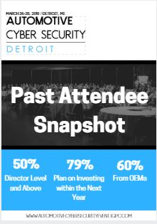 Past Attendee Snapshot - 2018 Automotive Cyber Security