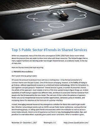 Top 5 Public Sector Trends in Shared Services
