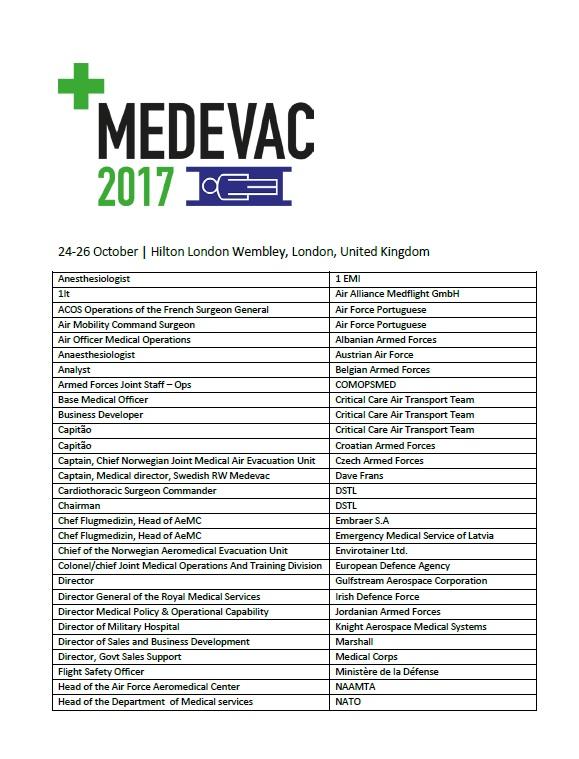 2017 Attendee List