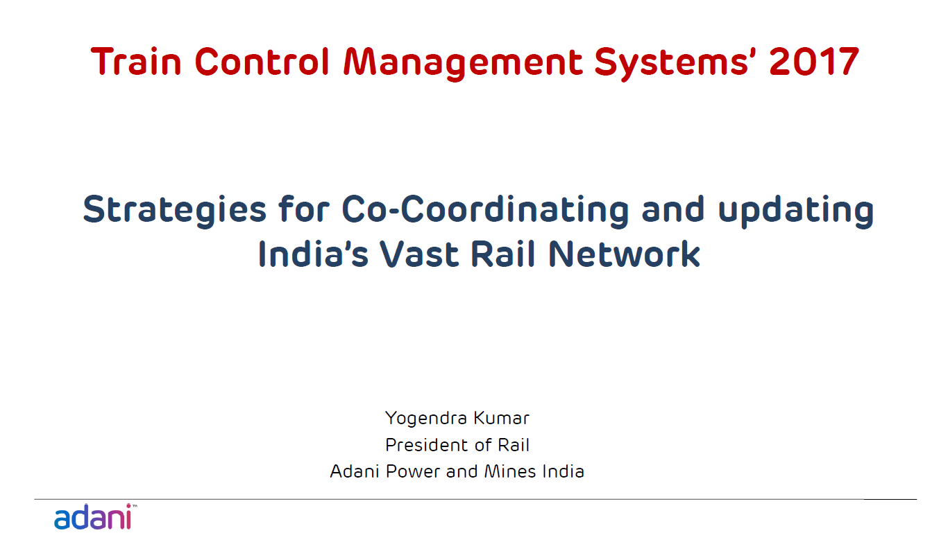 Strategies for Co-Coordinating and Updating India's Vast Rail Network