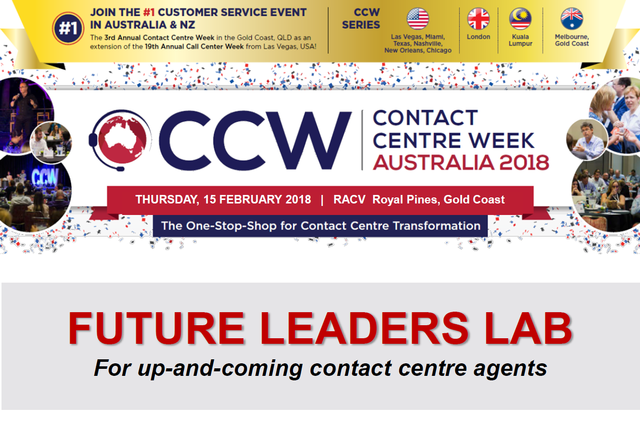 Contact Centre Week Future Leaders Lab 2018 Agenda