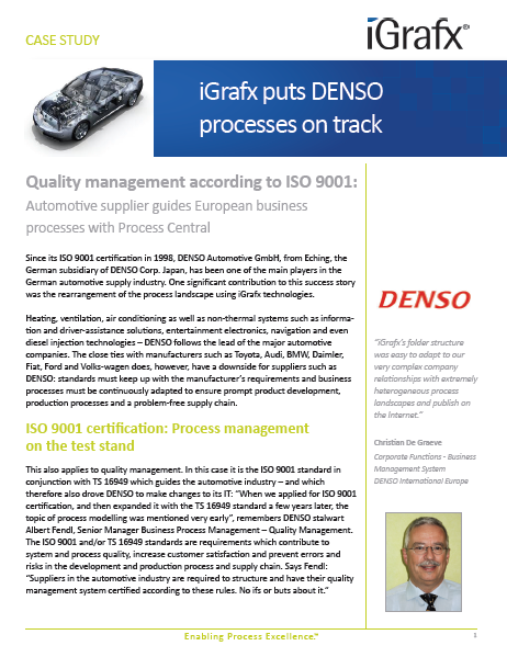 iGrafx puts DENSO processes on track