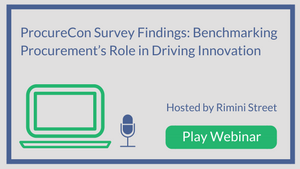 ProcureCon Survey Findings: Benchmarking Procurement's Role in Driving Innovation
