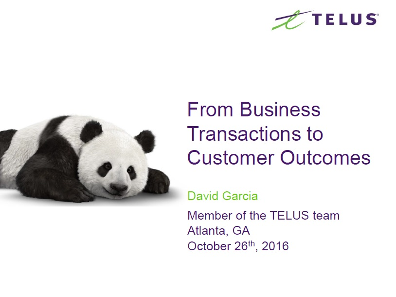 From Business Transactions to Customer Outcomes