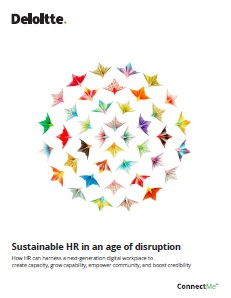 Sustainable HR in An age of Disruption