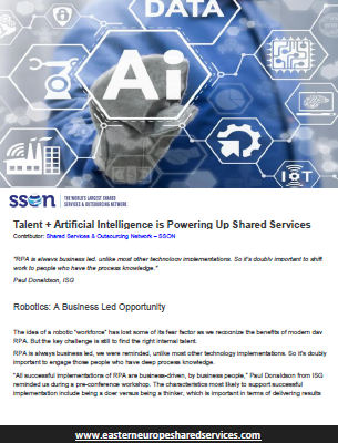 Talent + Artificial Intelligence is Powering Up Shared Services