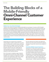 The Building Blocks of a Mobile-Friendly Omni-Channel Experience