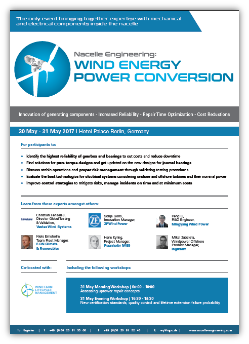 Nacelle Engineering: Wind Energy Power Conversion Summit