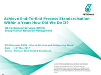Achieve End-To-End Process StandardisationWithin a Year: How Did We Do It?