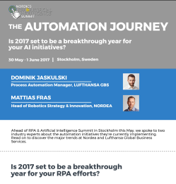 What will be your Automation journey? Hear what Lufthansa and Nordea are planning
