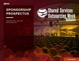 Shared Services and Outsourcing Week - Sponsorship Prospectus