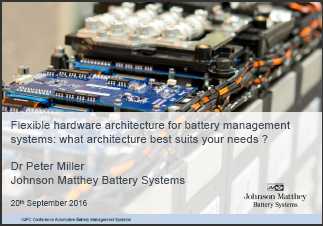 Flexible hardware architecture for battery management systems: what architecture best suits your needs