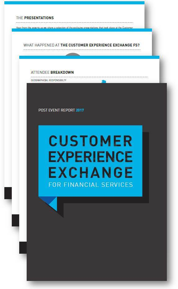 Customer Experience Exchange for Financial Services Post Event Report 2017 (SPEX)