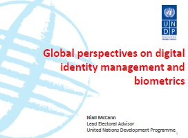 Global perspectives on digital identity management and biometrics