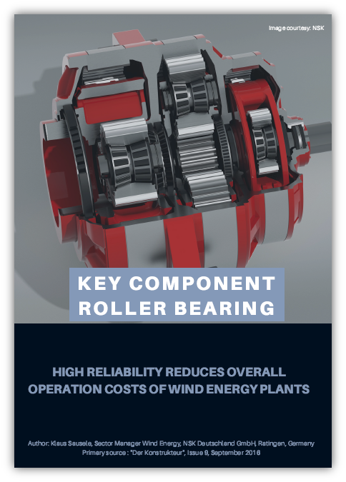 Key Component Roller Bearing - NSK Paper on Ensuring High Reliability
