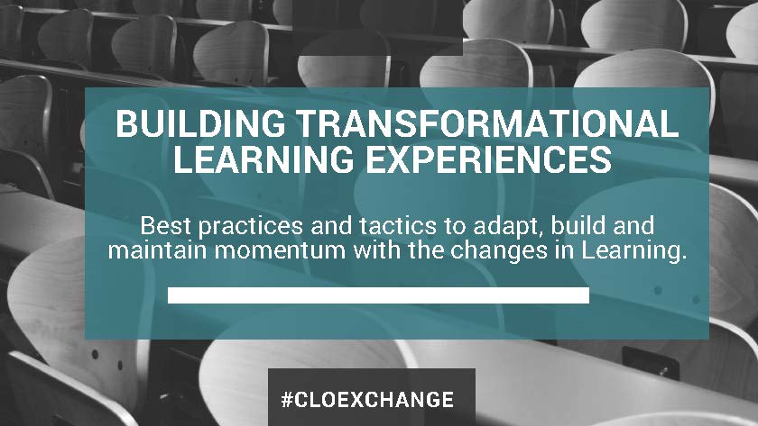 Building Learning Transformation Learning Experiences