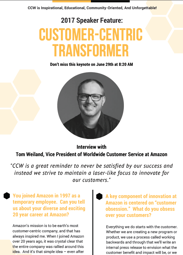 Q&A with Tom Weiland at Amazon