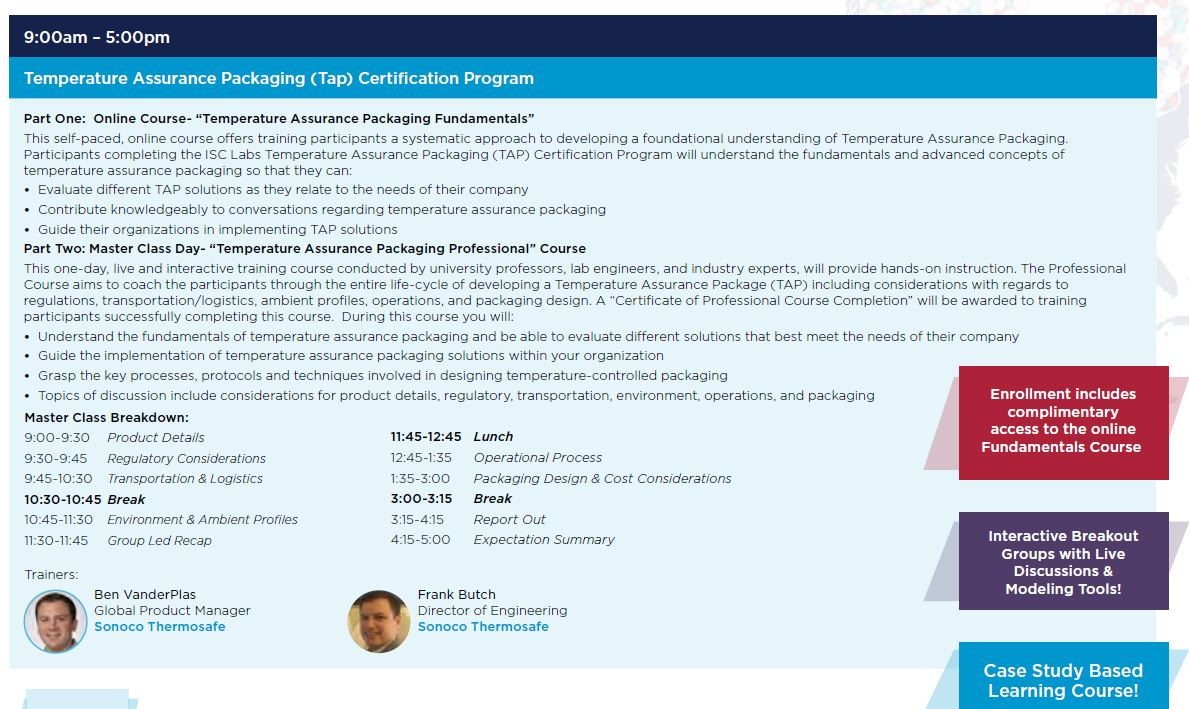 Temperature Assurance Packaging Training Course (Certified)