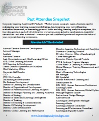 Corporate Learning Past Attendee Snapshot