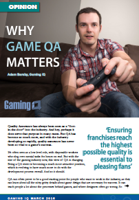 Op-Ed: Why Game QA Matters