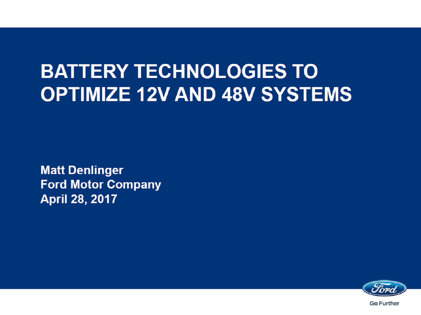 Advanced Energy Storage Solutions: Batteries Technologies To Optimize 12V And 48V Systems