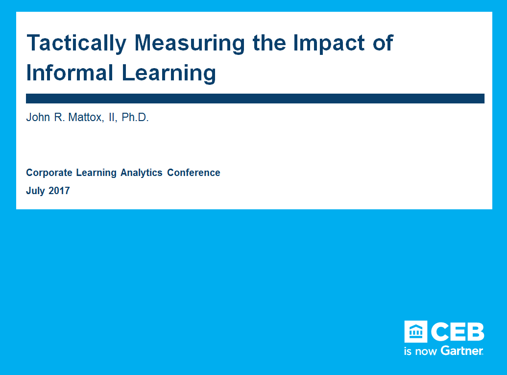 Tactically Measuring the Impact of Informal Learning