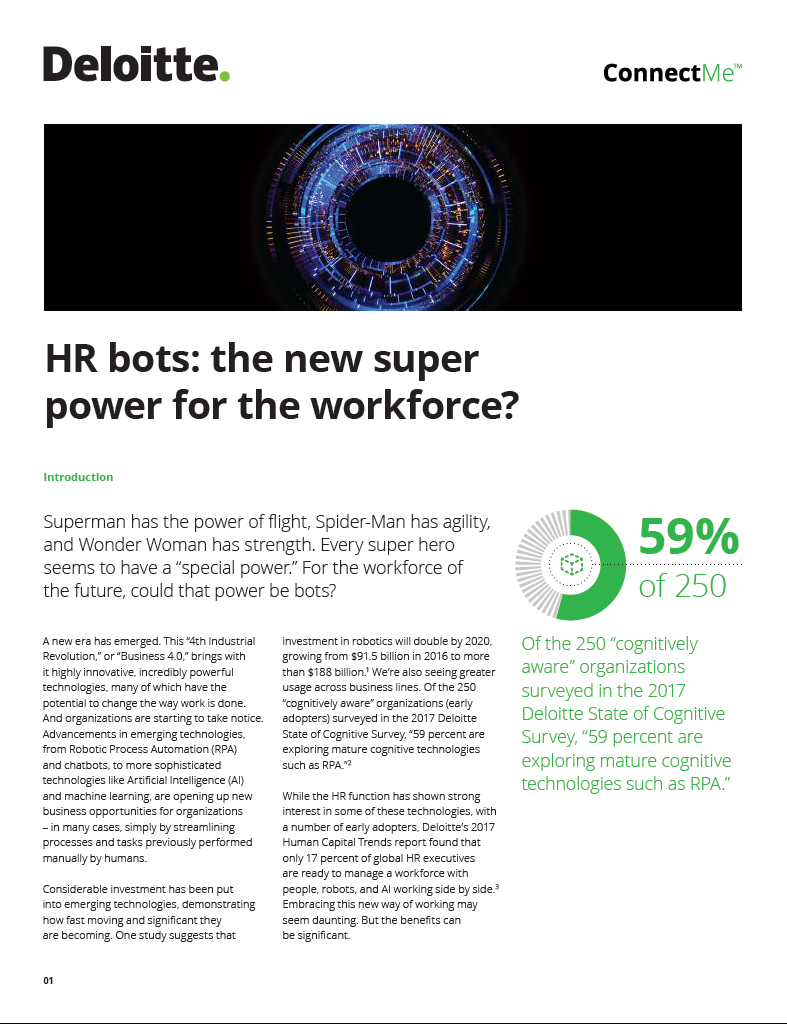 HR bots: the new super power for the workforce?