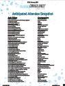 Anticipated Attendee Snapshot: 2018 Pharmacovigilance