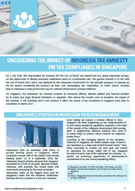 Uncovering the Impact of Indonesia Tax Amnesty on Tax Compliance in Singapore