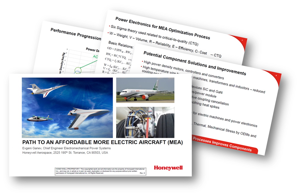 Honeywell maps the path to an affordable More Electric Aircraft