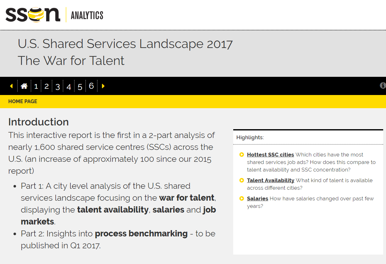 DART Report: U.S. Shared Services Landscape