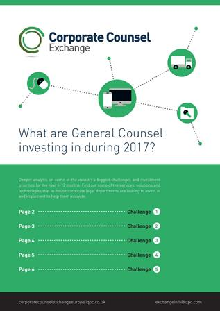 What are General Counsel investing in during 2017?