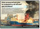 How prepared are you to respond to an oil and gas incident?