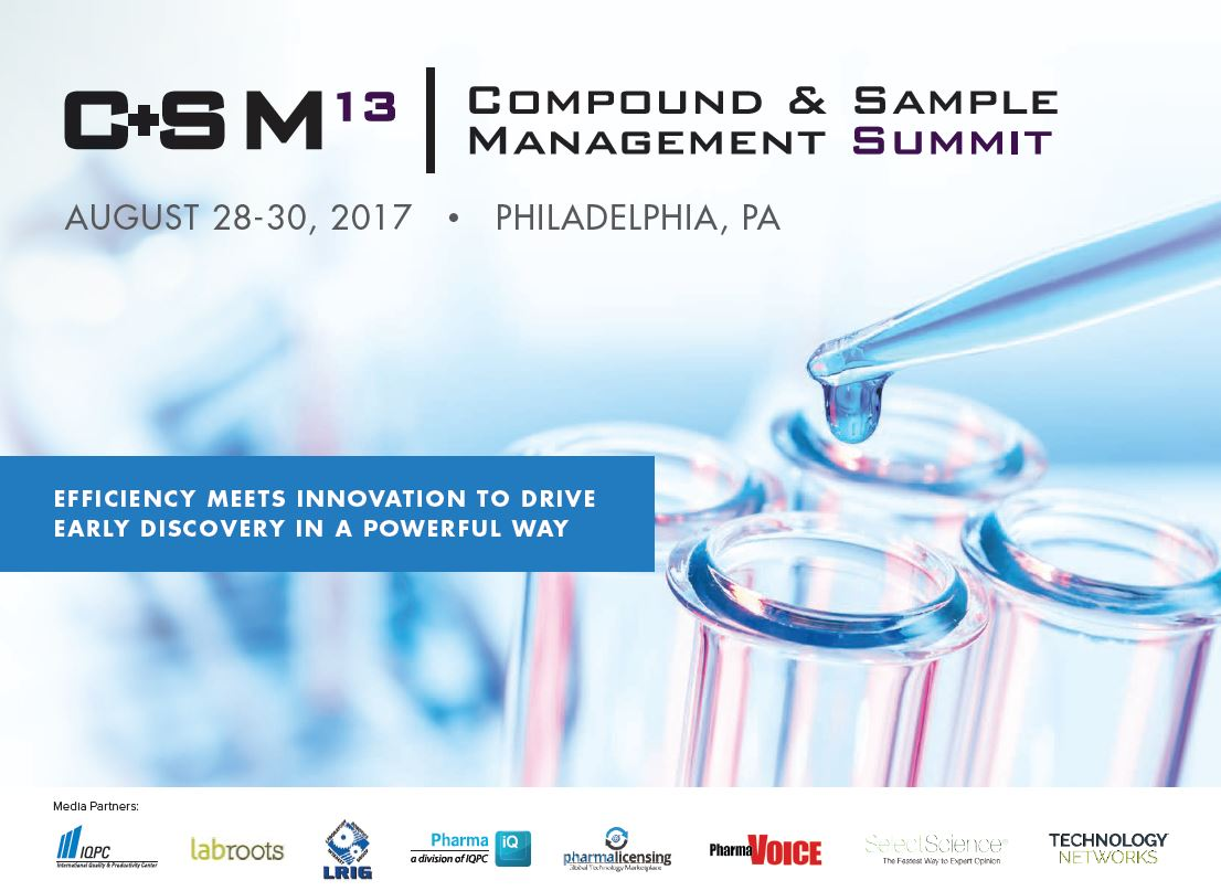 13th Compound & Sample Management Summit Agenda