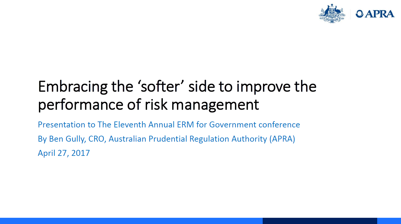 Embracing the Softer Side to Improve Performance of Risk Culture