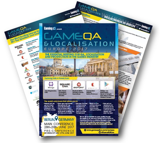 [Event Guide] 5th Annual Game QA and Localisation, Europe 2017