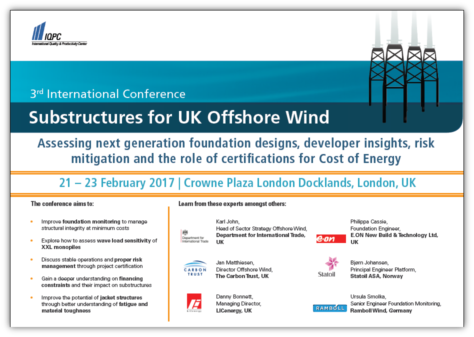 4th International Conference Substructures for UK Offshore Wind 2018