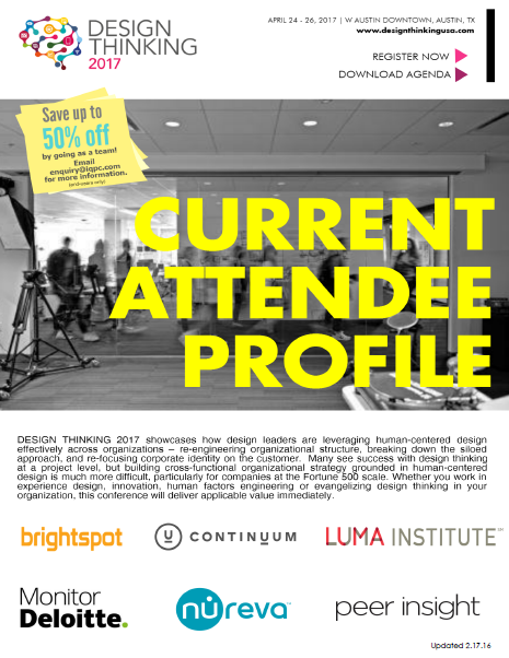 Design Thinking Current Attendee Profile