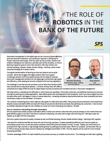 The role of robotics in the bank of the future