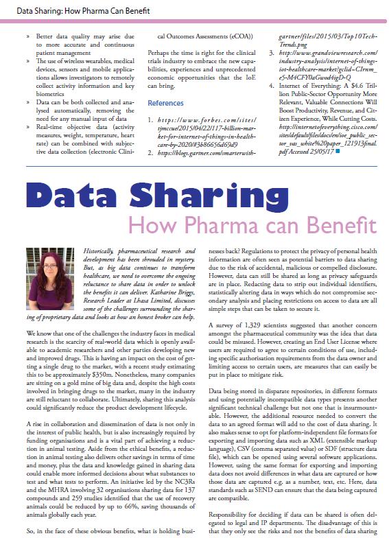 Data Sharing: How Pharma Can Benefit