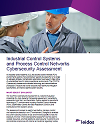 Industrial Control Systems and Process Control Networks Cybersecurity Assessment